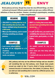 jealousy vs envy differences between