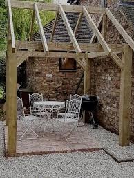 wooden garden shelter frame gazebo hot tub car port canopy kit 2 7m x