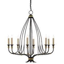 9000 0214 currey and company folgate chandelier in french black with gold leaf accents