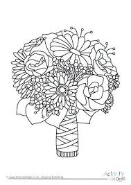 Wedding Coloring Page Wedding Bouquet Colouring Page Wedding Dress