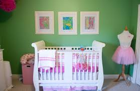 green and pink lilly pulitzer nursery