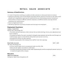Retail Sales Associate Resume Custom Retail Sales Associate Resume Sample Sales Associates Resume