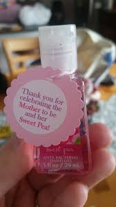 baby girl baby shower favor bath works sweet pea hand sanitizer my crafts creations hand sanitizer shower favors and