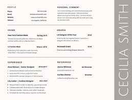 Best Fonts For Resume Templates Awesome Graphic Design Resumes 2017