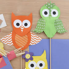 How To Make Paper Owls Cute Papercrafts Owl Puppets