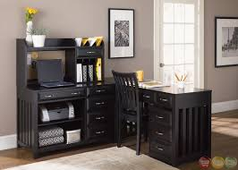 home office black desk. Awesome Home Office Furniture Desk On Hampton Bay Black Finish L Shaped