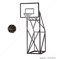 バスケットゴールバスケットリングのイラスト素材集 Pixtaピクスタ