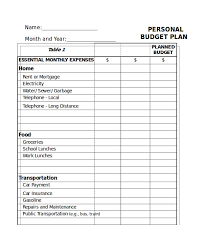 Budget Expenses Template 31 Excel Monthly Budget Templates Word Excel Pages