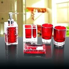 red glass bathroom accessories. Flash Red Glass Bathroom Accessories
