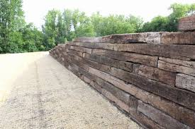 landscape retaining wall cost railroad ties retaining wall cost bitdigest design why use the railroad tie retaining wall