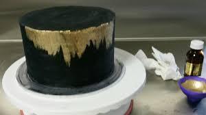 black gold cake step 6 black gold brush cake tutorial i