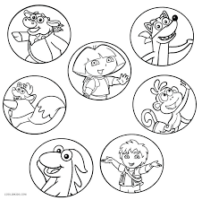 Dora Coloring Pages Printable Free Printable Dora And Friends