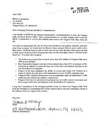 letter expressing concern letters to chairman principi expressing concern over niagara falls
