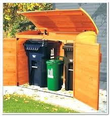 outdoor trash can storage cabinet laveryteamcom outdoor garbage can storage