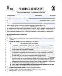 Home Purchase Agreement Form Free Gorgeous Home Purchase Agreement Sample 48 Free Documents In Word PDF