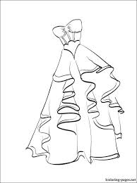 Small Picture Wedding gown coloring page to print Coloring pages