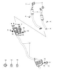 2011 dodge durango exhaust system diagram i2262376