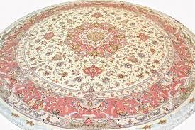olia round 10 10 silk persian rug item hf 209