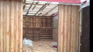 Floors Made From Pallets Diy Building A Big Storage S Shed Or Cabin With Free Recycled
