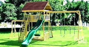 outside swings for kids sublime wooden swing sets garden backyard playground equipment outdoor play a costco