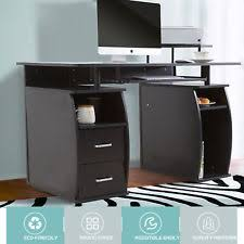 home office workstation. Computer Desk Table Home Office Workstation Monitor\u0026Printer Shelf Furniture PC