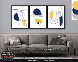 navy blue mustard yellow grey trendy