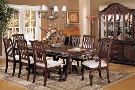 formal dining room sets. Luxury Formal Dining Room Sets For 8 With Wooden Hutch And White Chandelier