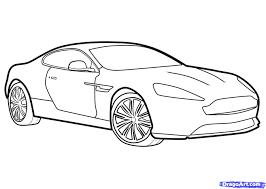Coloriage A Imprimer Vehicules Voiture Aston Martin Numero