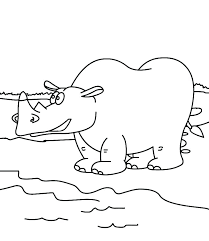 Coloring Pages Hungry Hippo Coloring Pages Baby Hippopotamus Cute