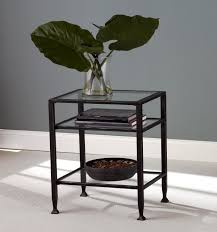 amazoncom southern enterprises bunching glass side end table