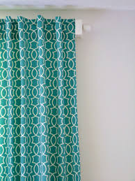 Teal Patterned Curtains Simple DIY Back Tab Curtain Tutorial Dans Le Lakehouse