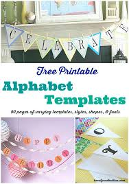 Pages Of Free Printable Alphabet Templates With Different Fonts ...