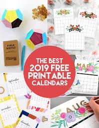 Best 2019 Calendar Design The Best 2019 Free Printable Calendars The Craft Patch