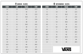 Vans Clothing Size Chart Off38 Discounts