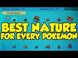 Let S Go Eevee Nature Chart Best Pokemon Lets Go Team Building Best Nature For Every Kanto Pokemon
