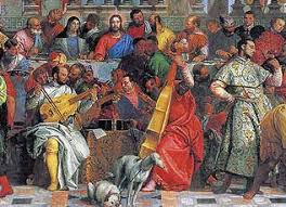 marriage at cana The Wedding At Cana Painting By Paolo Veronese marriage at cana (detail) veronese Paolo Veronese Inquisition