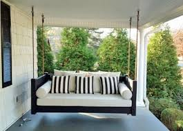 Hanging Porch Beds, Swinging Porch Beds--sounds like a great thing to have