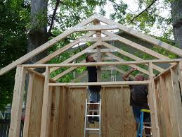 picture of creating and attaching the roof trusses