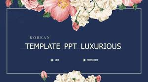 Ppt Flowers Vintage Luxury Floral Background Korea Template Powerpoint Free