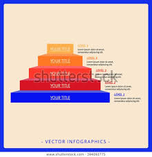 Stacked Pyramid Chart Template 2 Stock Vector Royalty Free