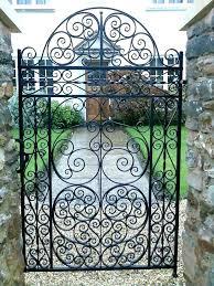 iron garden gates gate