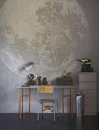 Fotobehang Maan In Tienerkamer Photo Wallpaper Moon In Teenage