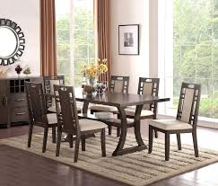 7 piece dining table set freeport brown pedestal extending oval