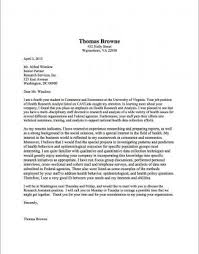 Example Of Cover Letter For Resume Stunning Cover Letter Samples UVA Career Center