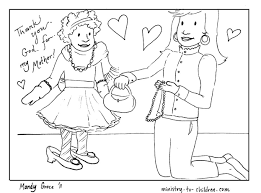 Two mothers with baskets of flowers. Mother S Day Coloring Pages 100 Free Easy Print Pdf