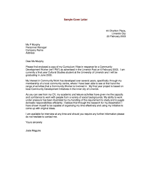Example Of Cover Letter Example Of Cover Letter Sample Cover Letters