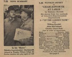 """Sam Czopanser on Twitter: """"Lost 1958 police drama, Charlesworth at Large.  Six stories from the casebook of Detective-Superintendent Charlesworth  starring Wensley Pithey, Tony Church & Edward Higgins. Guest stars: Charles  Lloyd Pack,"""