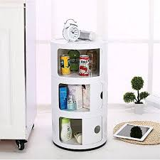 universal 3 tier round storage unit kartell componibili style office bathroom caddy drawer