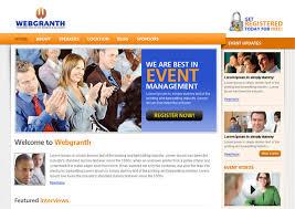 Free Downloads Web Templates Event Management Psd Template Free Download Psd Website