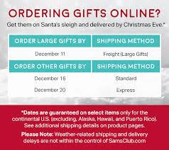 Holiday Calendar  Samu0027s ClubOnline Gifts By Christmas